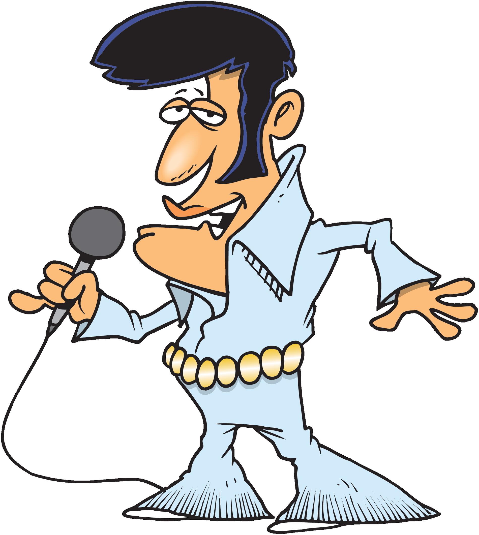 Hair clipart elvis hair Elvis Elvis Style Silhouette Clipart