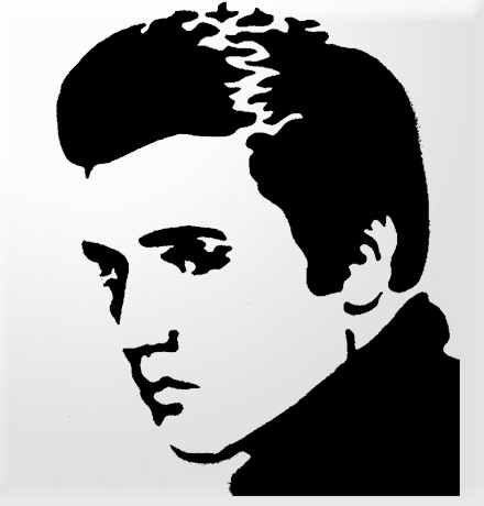 Celebrity clipart well done Stencil Free Art Presley Clipart