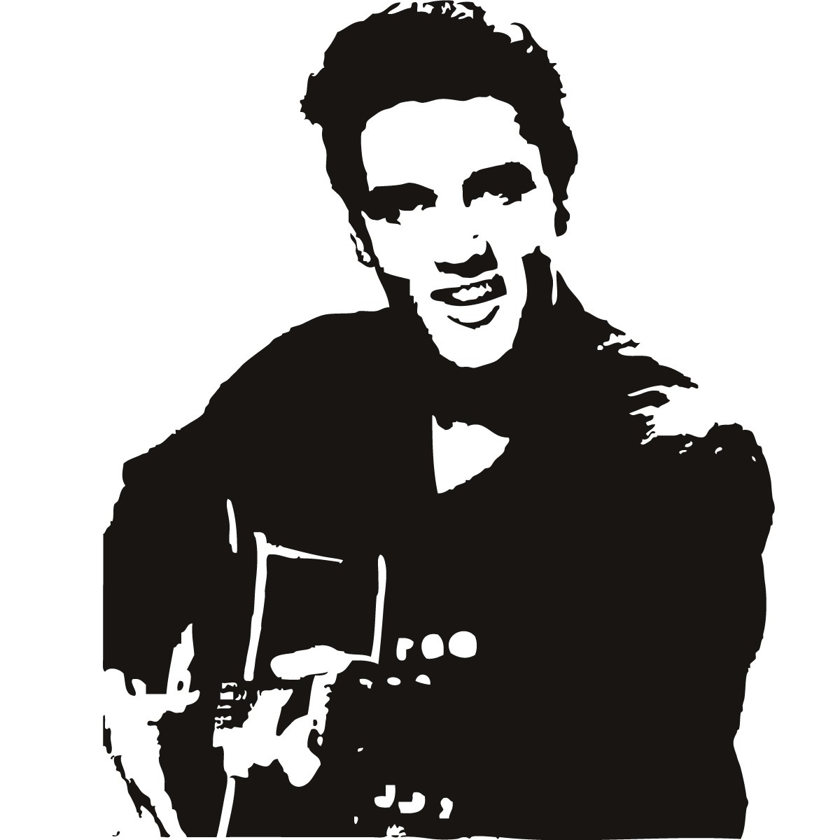 Elvis Presley clipart Elvis Silhouette Profile Presley Celebrity Art Stickers Wall