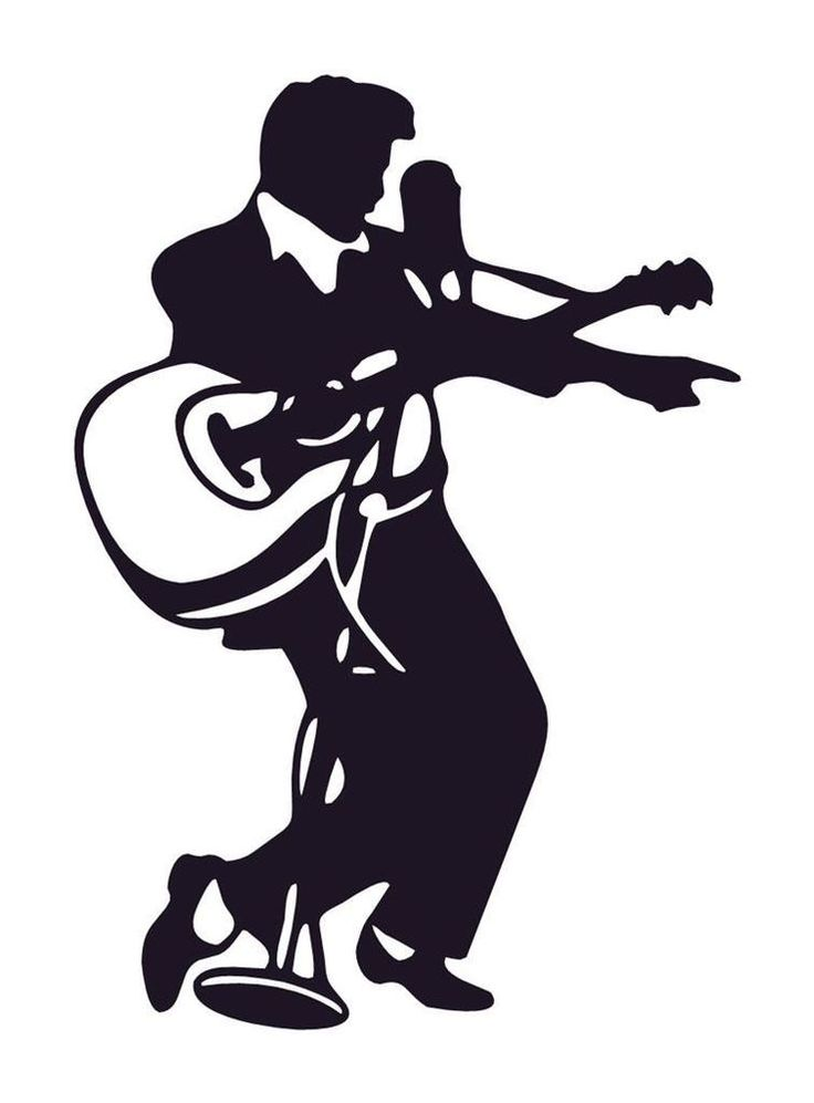 Elvis Presley clipart Elvis Silhouette Profile DECAL on PLAYING CAR Pinterest