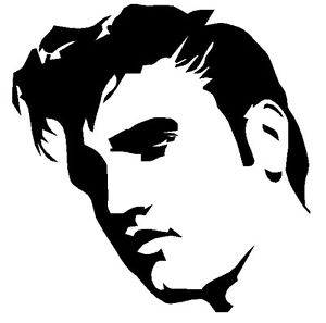 Elvis Presley clipart Elvis Silhouette Profile Details Black car car ELVIS