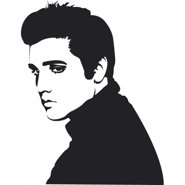 Elvis Presley clipart Elvis Silhouette Profile Images Cross 16 Elvis Stitch