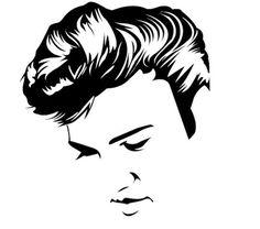 Elvis Presley clipart Elvis Silhouette Profile Clip found facebook Silhouette https://www