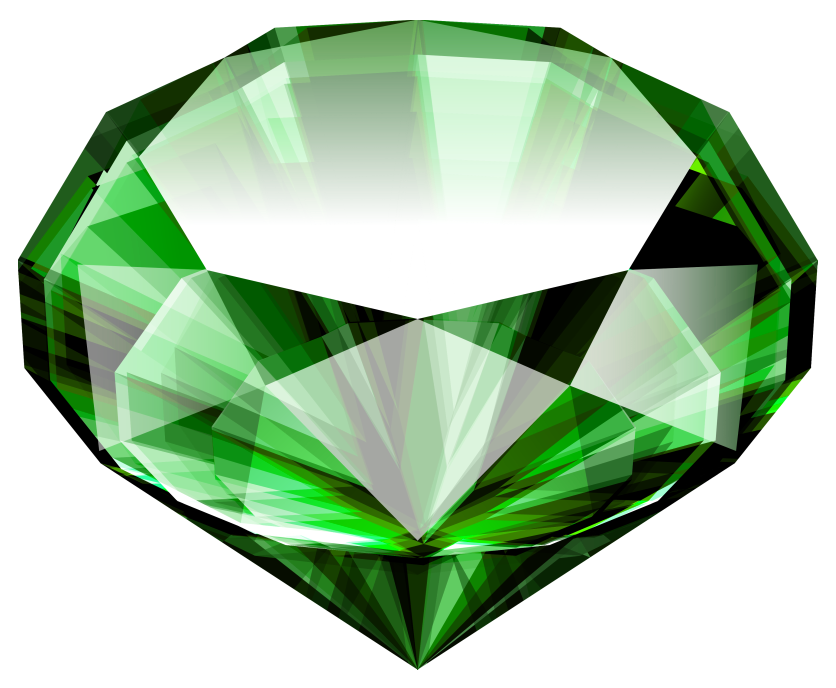 Gems clipart emerald Large full Yopriceville View Clipart
