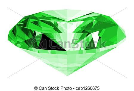 Emerald clipart Gem Isolated Stock a images