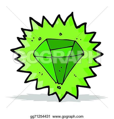 Emerald clipart small colored gem stone shape Clipart Illustration Stock Cartoon emerald