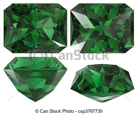 Emerald clipart diamond Emerald and images Stock