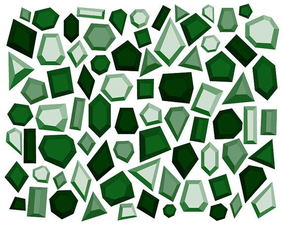 Emerald clipart diamond // Art Everdawn Clip from