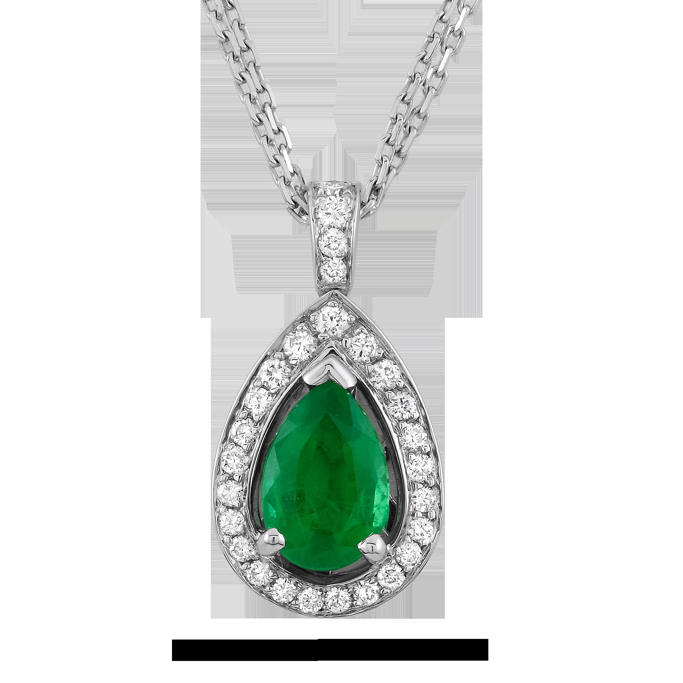 Emerald clipart diamond Necklace WG Emerald 00 &