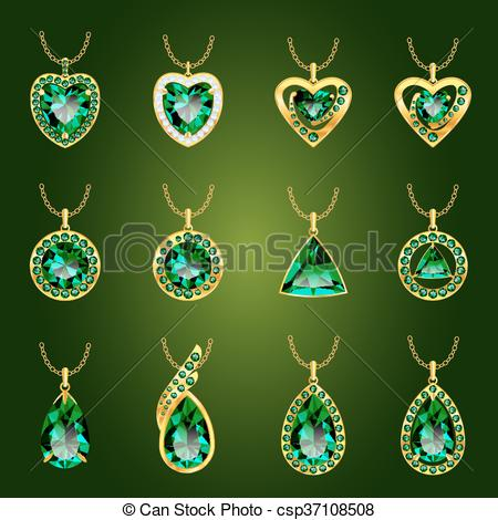 Emerald clipart round Green of cut of jewel