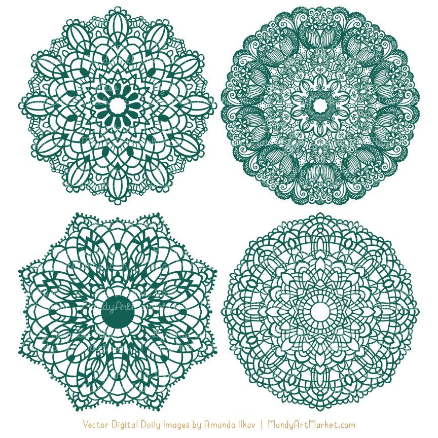Emerald clipart round Doily Doily Emerald Clipart Lace