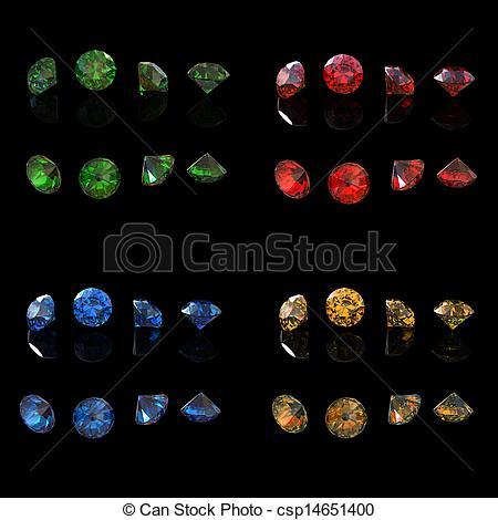 Emerald clipart round Round Emerald Stock csp14651400 Emerald