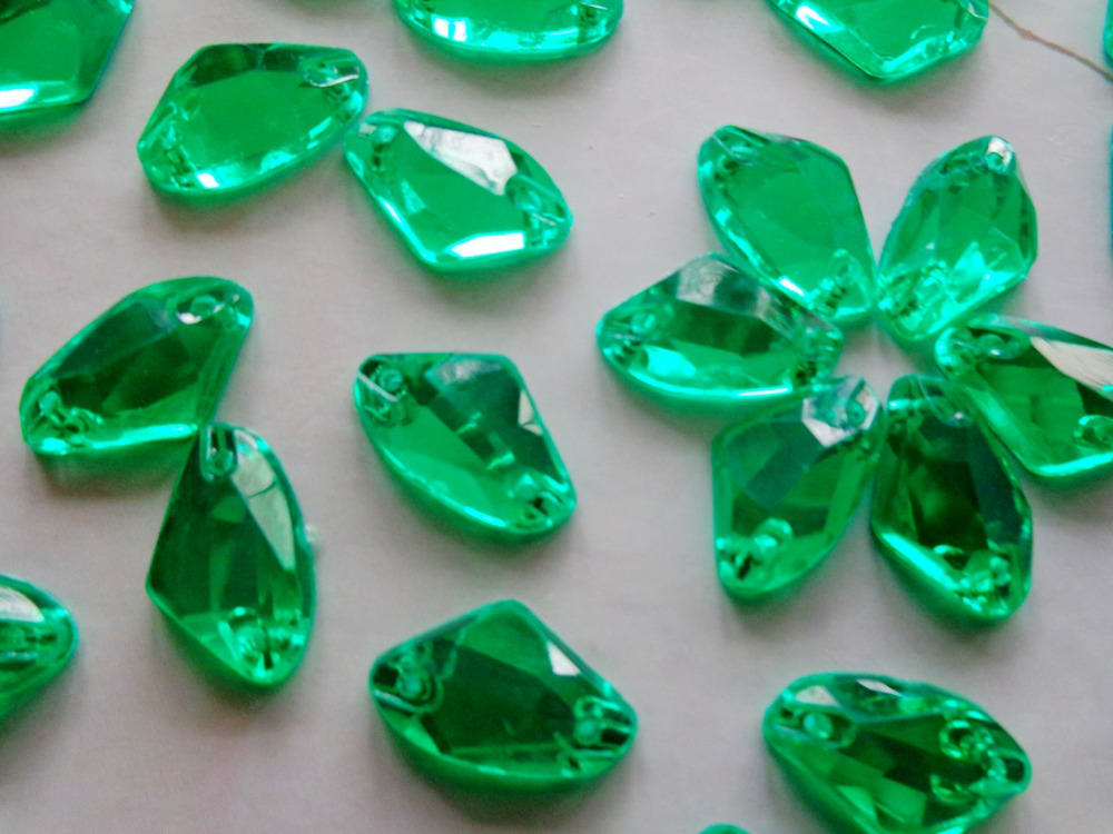 Emerald clipart small colored gem stone shape Sew on diamond stones Acryl