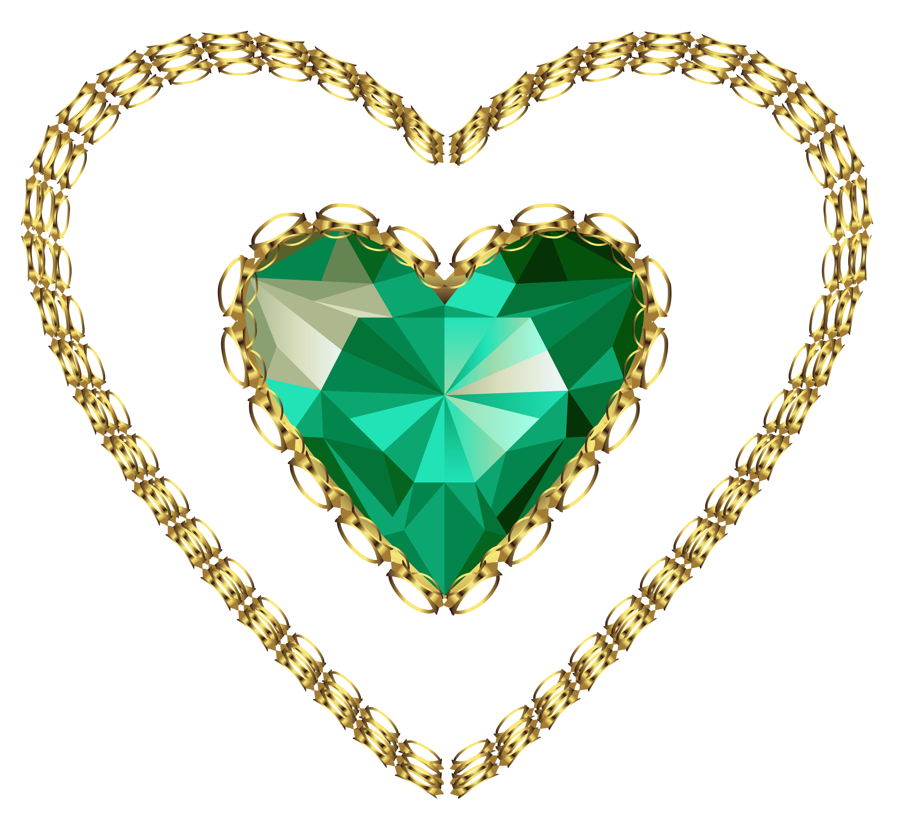 Emerald clipart transparent Heart High Quality PNG
