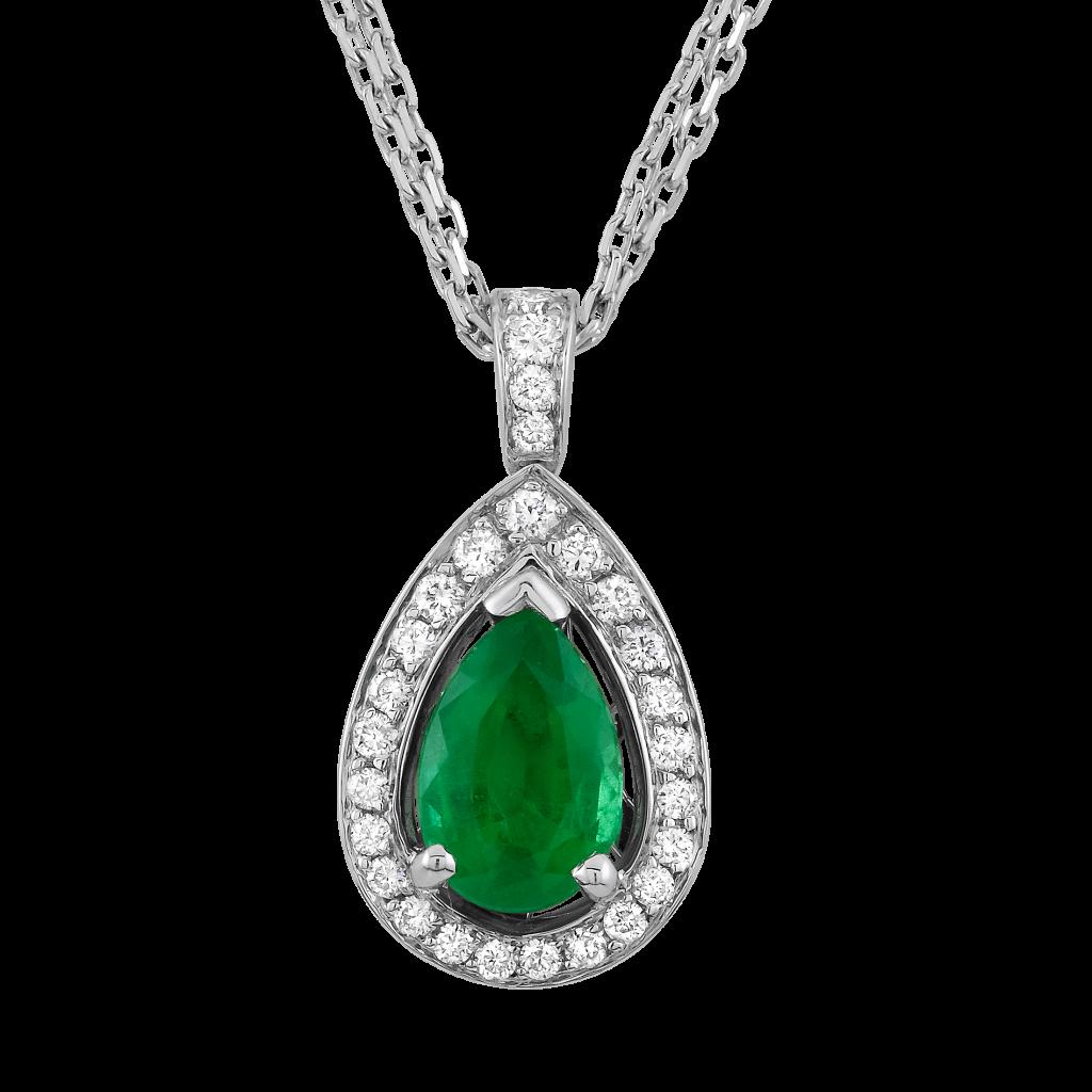 Emerald clipart transparent  WG Necklace Diamond 1