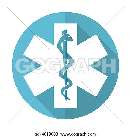 Flat icon Stock blue flat