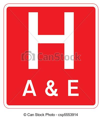 Of Hospital Hospital sign Red