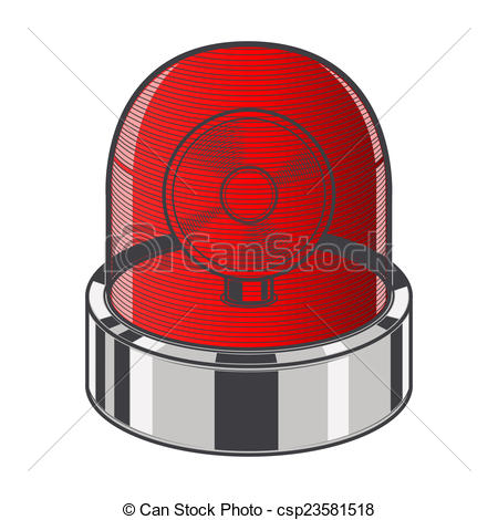 Emergency clipart siren Red of isolated siren csp23581518