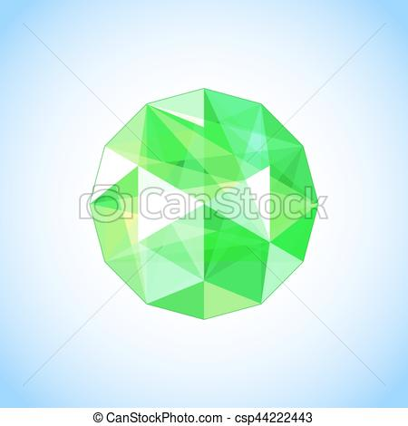Emerl clipart small colored gem stone shape Vector of shaped csp44222443 Gem
