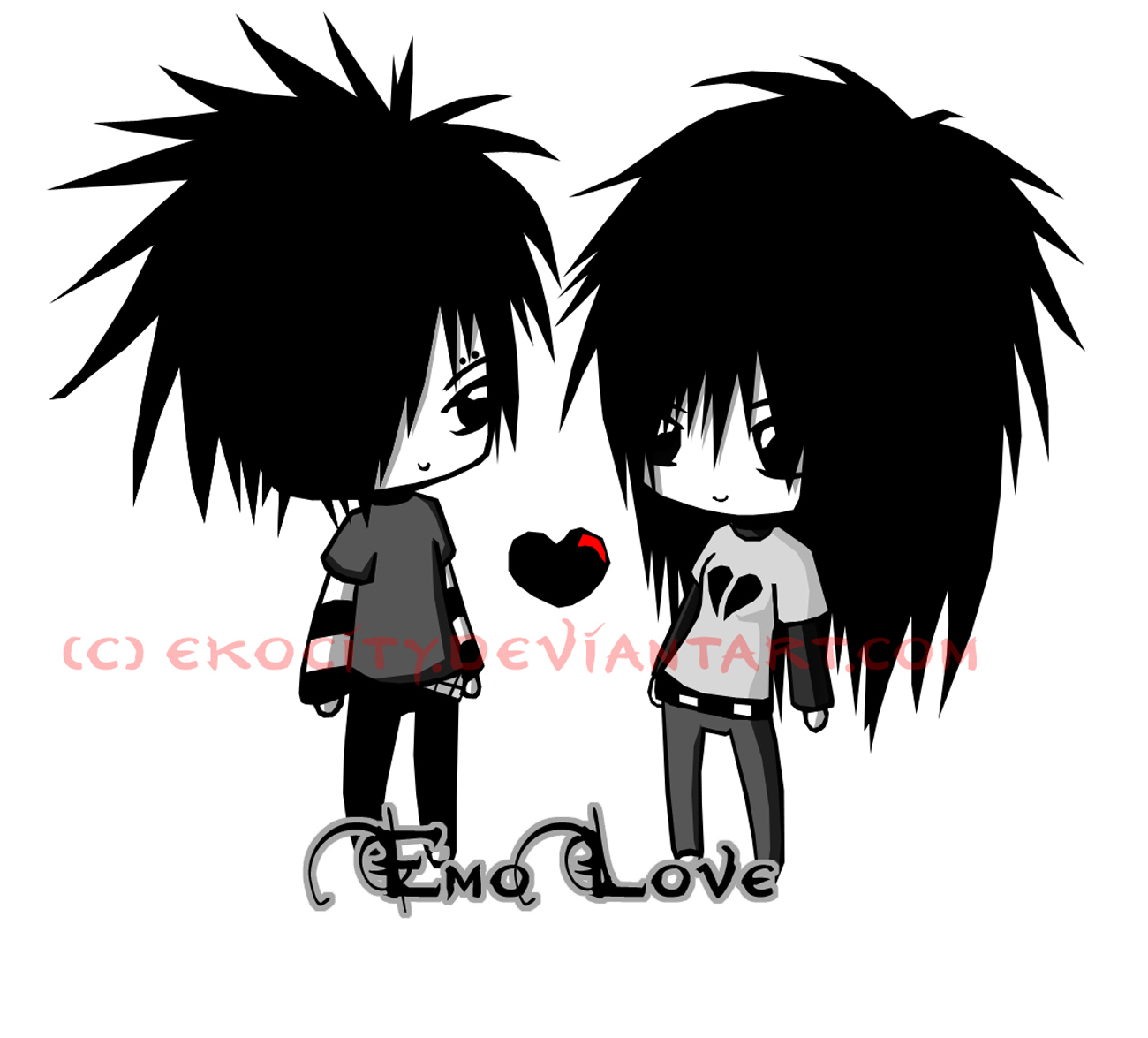 Emo clipart cute  8825329 Cute Love Emo