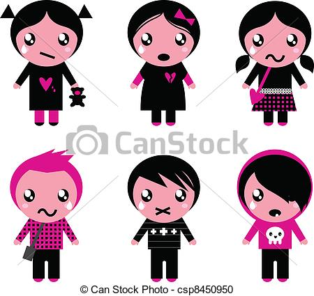 Emo clipart cute Csp8450950 kids Cute Six Cute