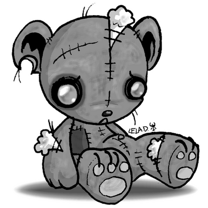 Emo clipart cute thing  want emo bear teddy