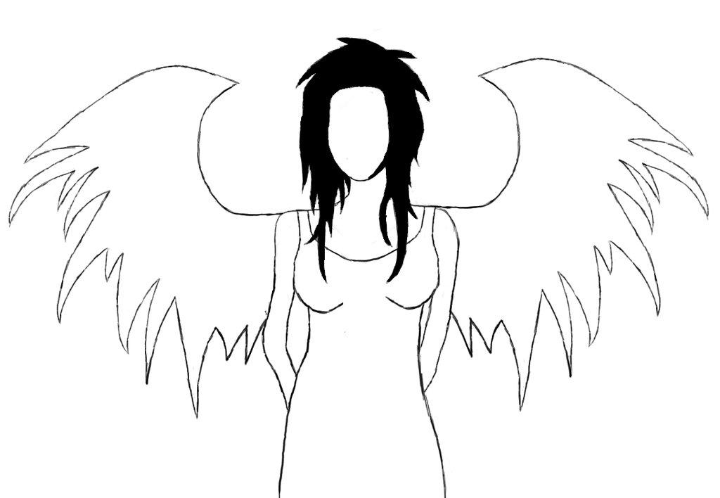 Fallen Angel clipart outline Fallen Free Art Angel Drawing