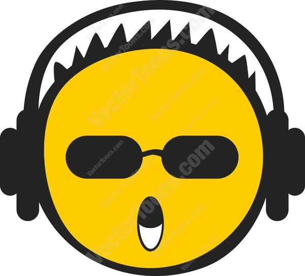 Headphone clipart emoticon Haired Headphones Clipart Yellow Short