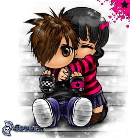 Emo clipart love Emo Couple Free couple Image