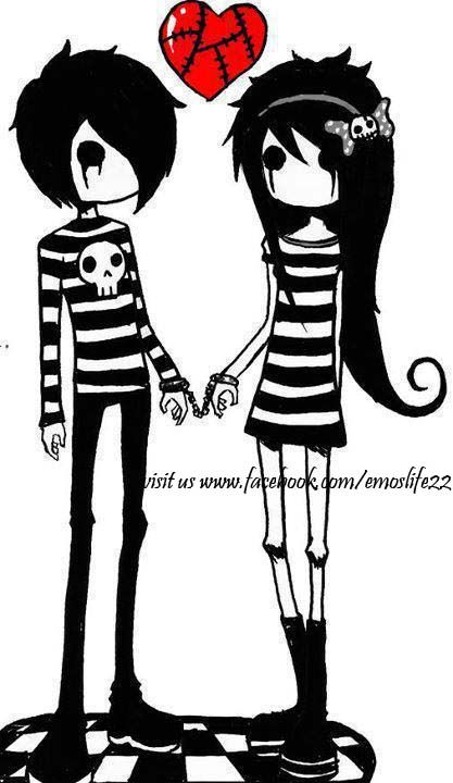 Emo clipart love Cute couple Emo anime best
