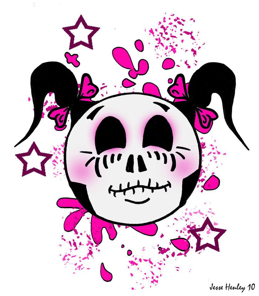 Ssckull clipart emo Girly on jessehenley jessehenley Skull