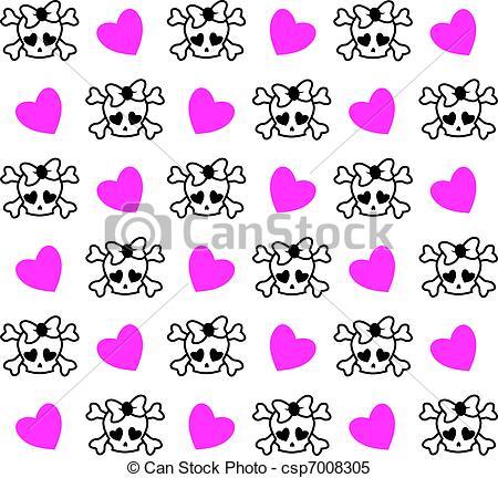 Ssckull clipart emo Vector csp7008305 Clip background Clipart