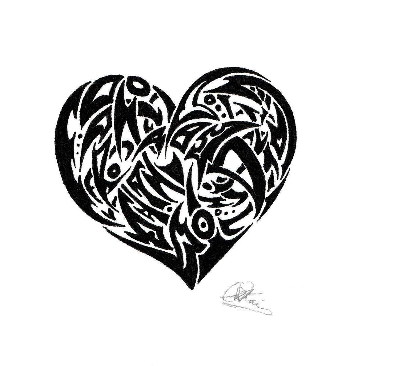 Emo clipart tribal On Emo Heart Heart Tribal