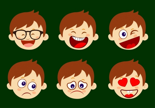 Emotional clipart boy  download for various use