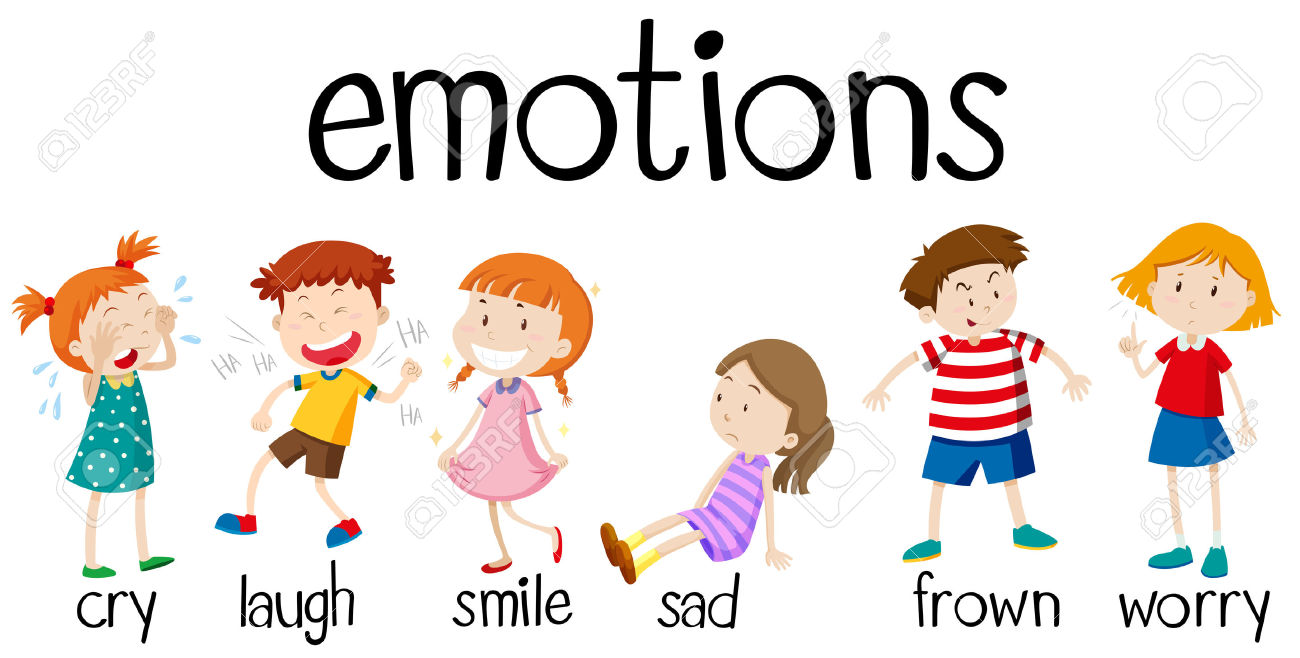 Emotions clipart frown Emotions Children collection emotions Illustration