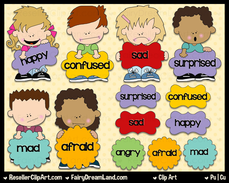 Emotions clipart child emotion Clip Panda And Clipart Black
