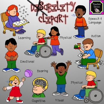 Emotional clipart doubt Set disability clipart images! 45