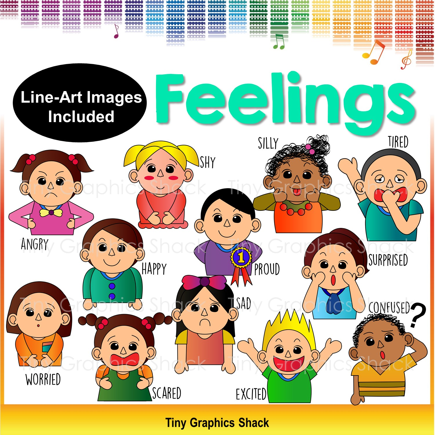 Emotions clipart happy sad And Feelings Clip Emotions and