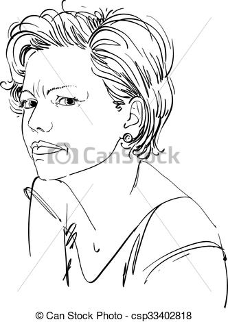 Emotional clipart doubt Attractive expression of Vector of