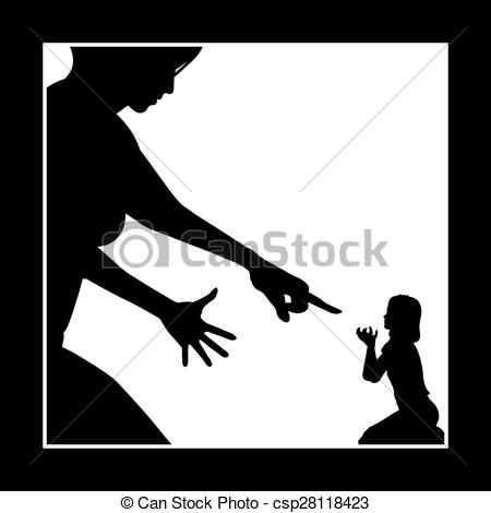 Violence clipart angry child Of Abuse Emotional Art Clip