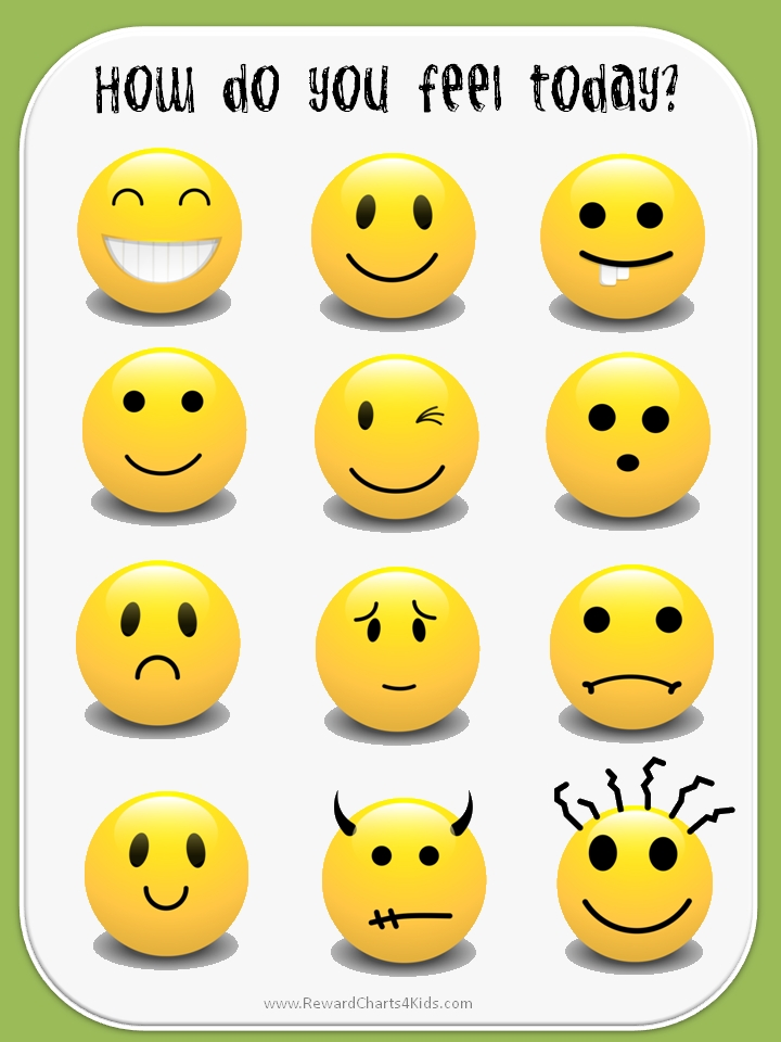 Feelings clipart printable Google emotions pedagogicos Google smile
