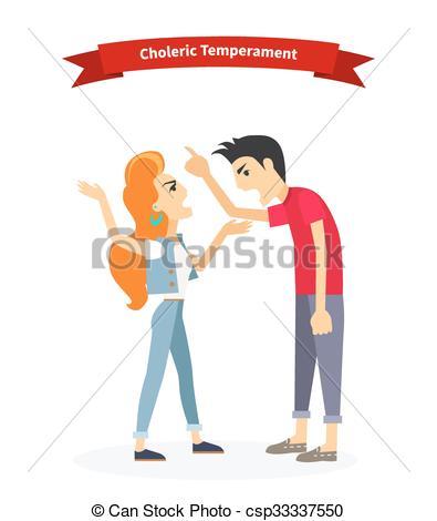 Emotional clipart focused Choleric Temperament  Phlegmatic of