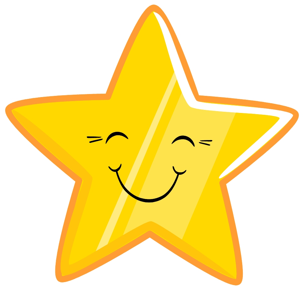 Emotional clipart happy star #1
