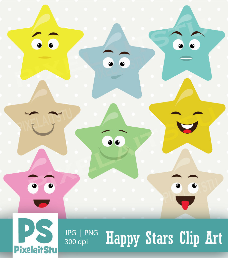 Emotional clipart happy star #5