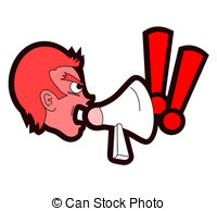 Emotional clipart indignant And rabid Indignantly design screaming