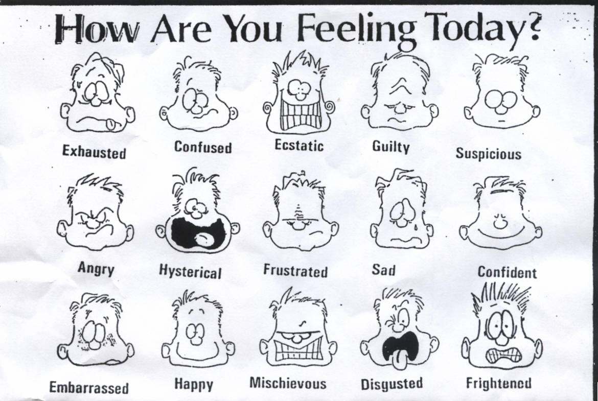 Feelings clipart black and white 2 C Keri Library Clipart