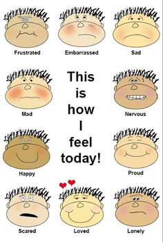 Emotional clipart lonely face And Early Emotional Foundations CSEFEL: