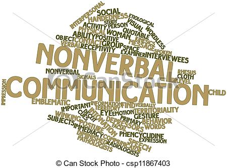 Emotions clipart non verbal Of  communication Illustration Stock