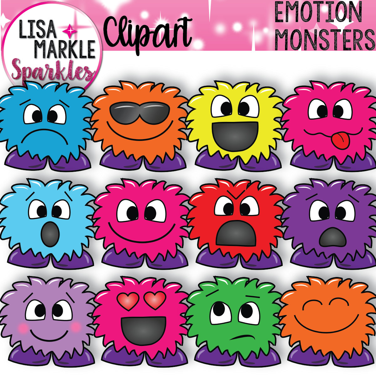 Emotional clipart really Monster a digital Clipart is