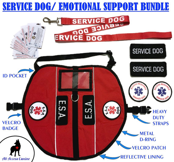 Emotional clipart reflective CANINE™ / Service Dog Animal